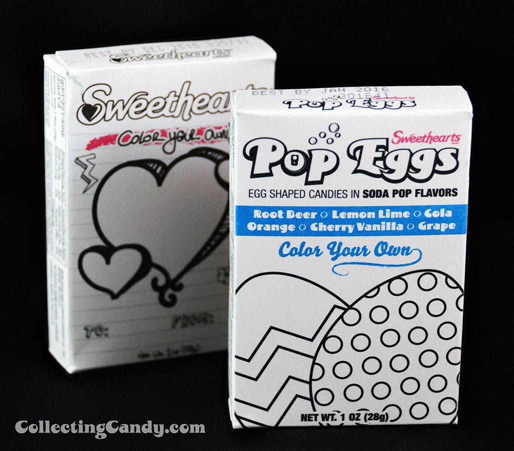 Necco Sweethearts Pop Eggs color-your-own side-by-side shot - March 2014
