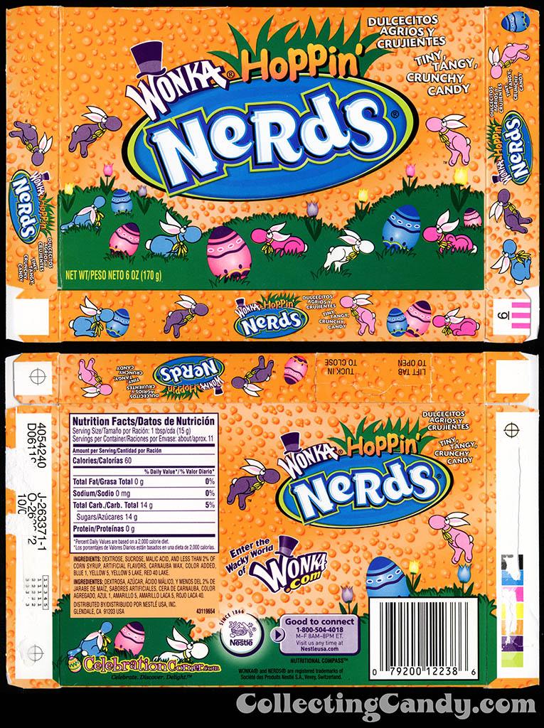 Nestle - Wonka - Hoppin' Nerds - 6 oz Easter candy box - 2009