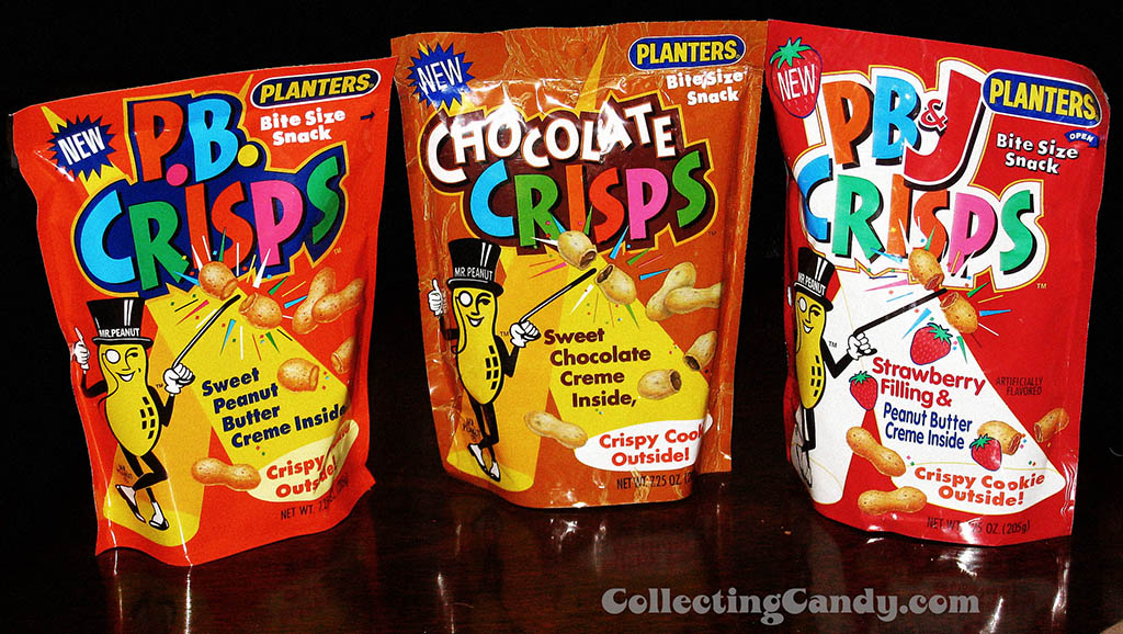 Planters PB Crisps, Chocolate Crisps and PB&J Crisps - 1992-1995