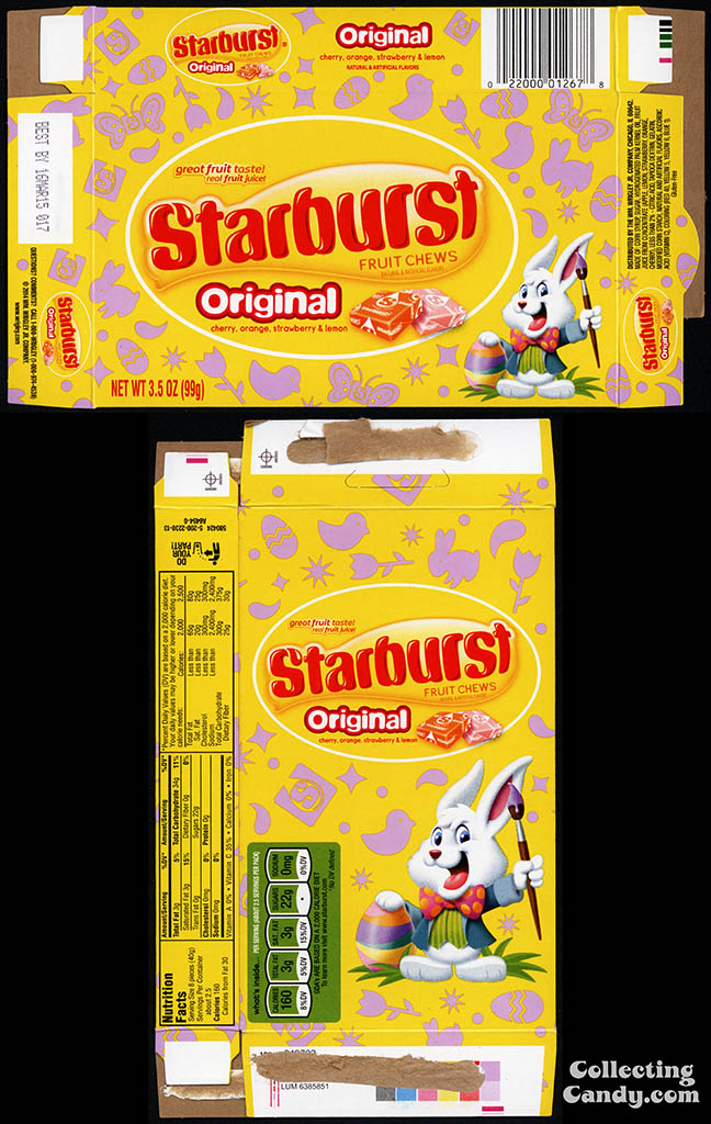 Wrigley - Starburst Fruit Chews Original - 3.5 oz Easter candy box - 2014