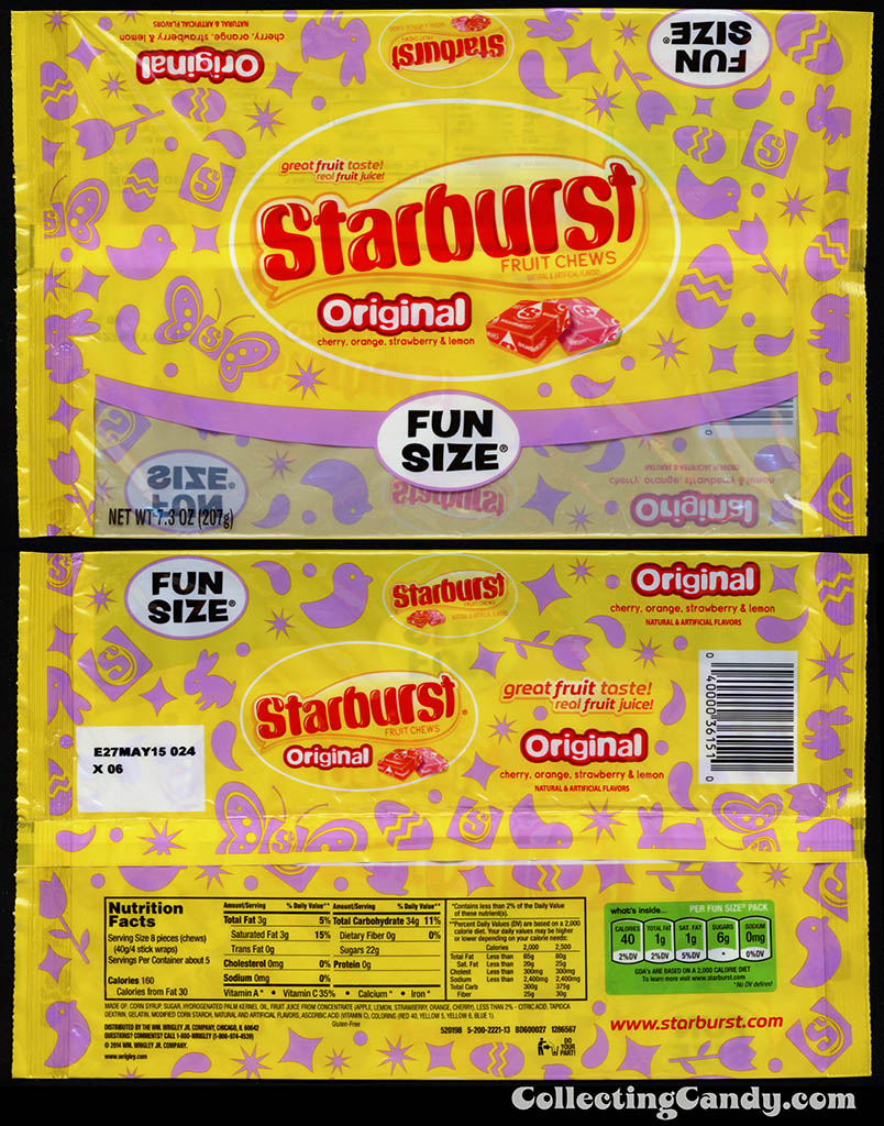 Wrigley - Starburst Original Fun Size - 7.3 oz Easter candy package - March 2014