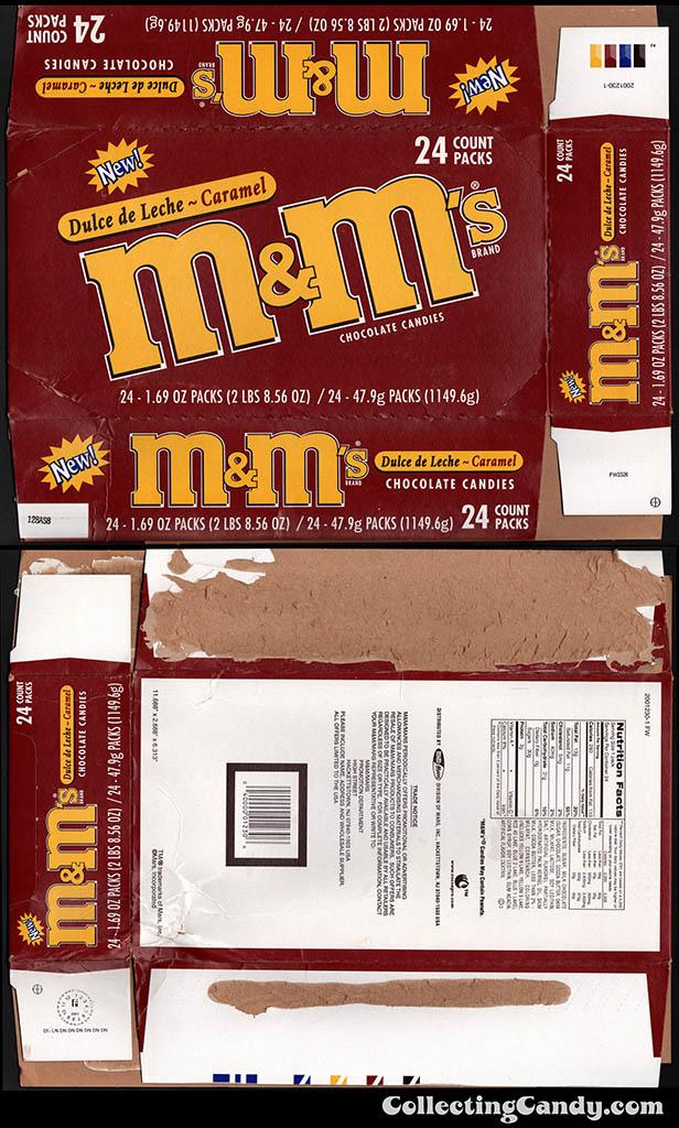 M&M-Mars - M&M's Dulce de Leche Caramel - display box - 2001 2002