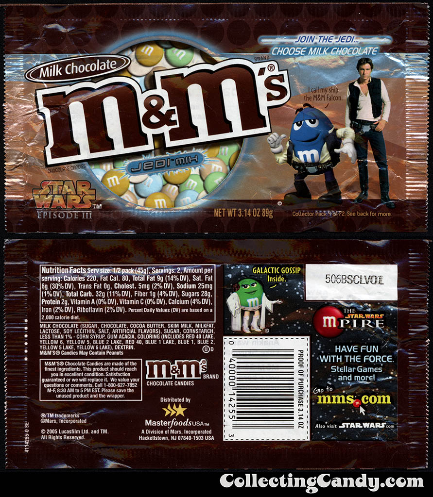 Mars - M&M's Star Wars Episode III - 04 of 72 - Milk Chocolate Jedi Mix - 3.14 oz candy package - 2005