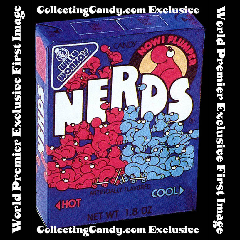 Willy Wonka - Nerds Hot and Cool candy box - 1989 - CollectingCandy.com exclusive world premier image