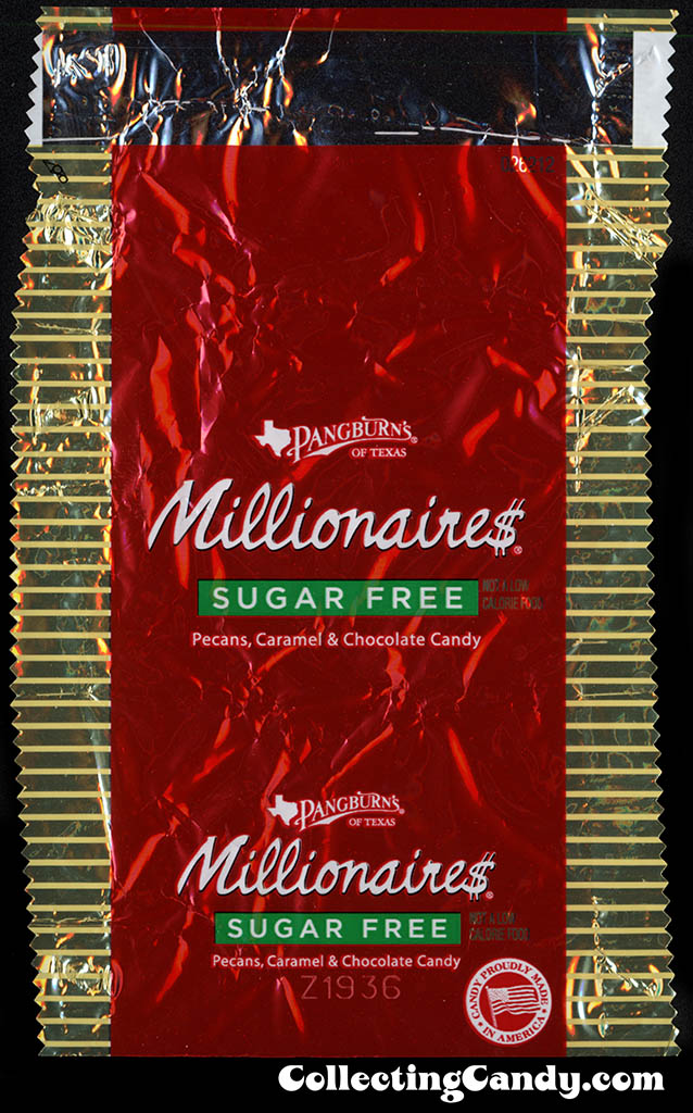 Pangburn's of Texas - Millionaires Sugar Free - fun-size package wrapper - 2013