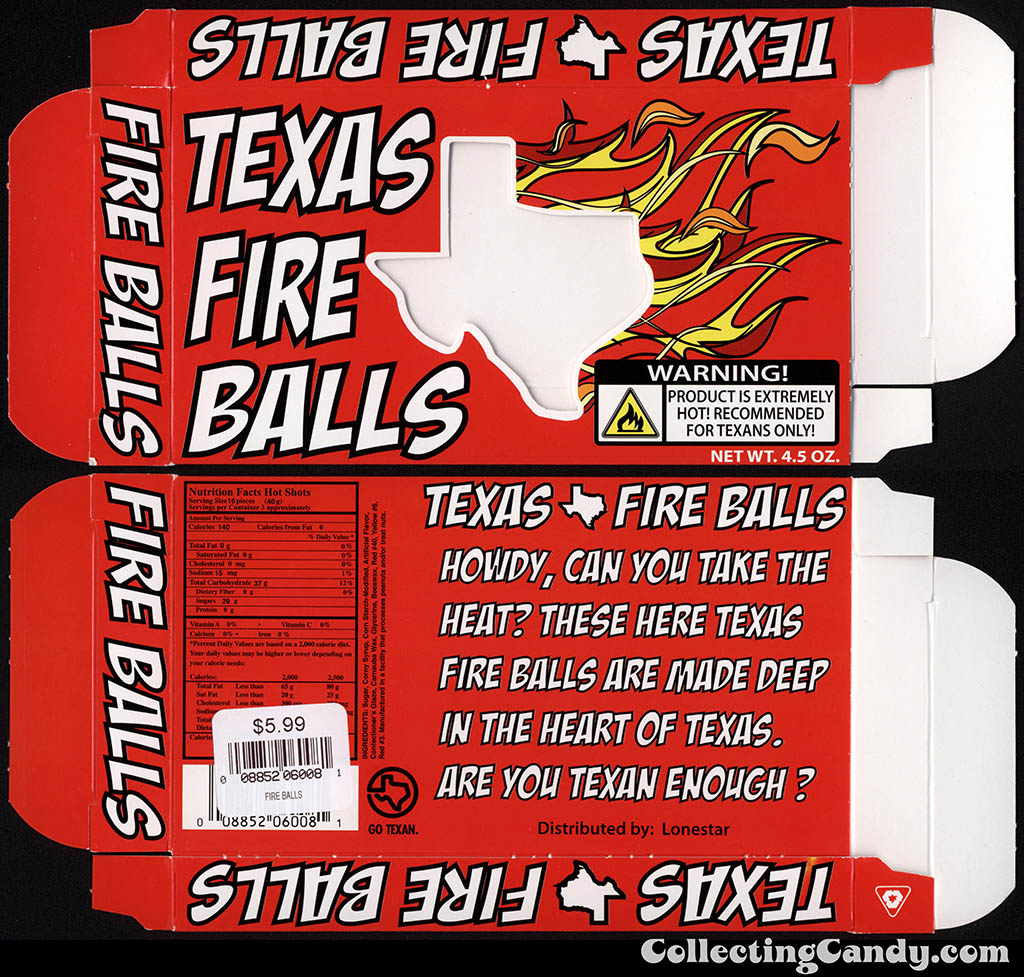 Lonestar - Texas Fire Balls - 4.5oz souvenir candy box - July 2014