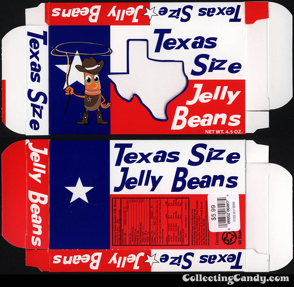 Lonestar - Texas Size Jelly Beans - 4.5oz souvenir candy box - July 2014