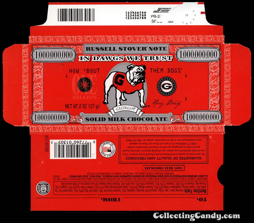 Russell Stover - Collegiate 2oz Chocolate Bar Note box - Georgia Bulldogs - 2013