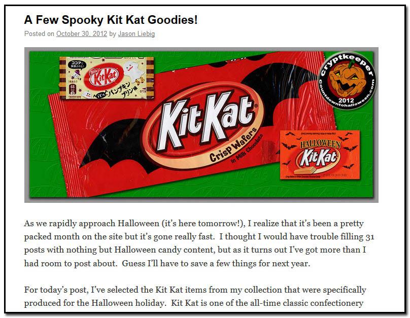 A Few Spooky Kit Kat Goodies - October 30th, 2012
