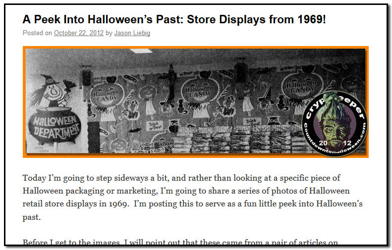 A Peek Into Halloween's Past: Store Displays from 1969! - October 22nd, 2012