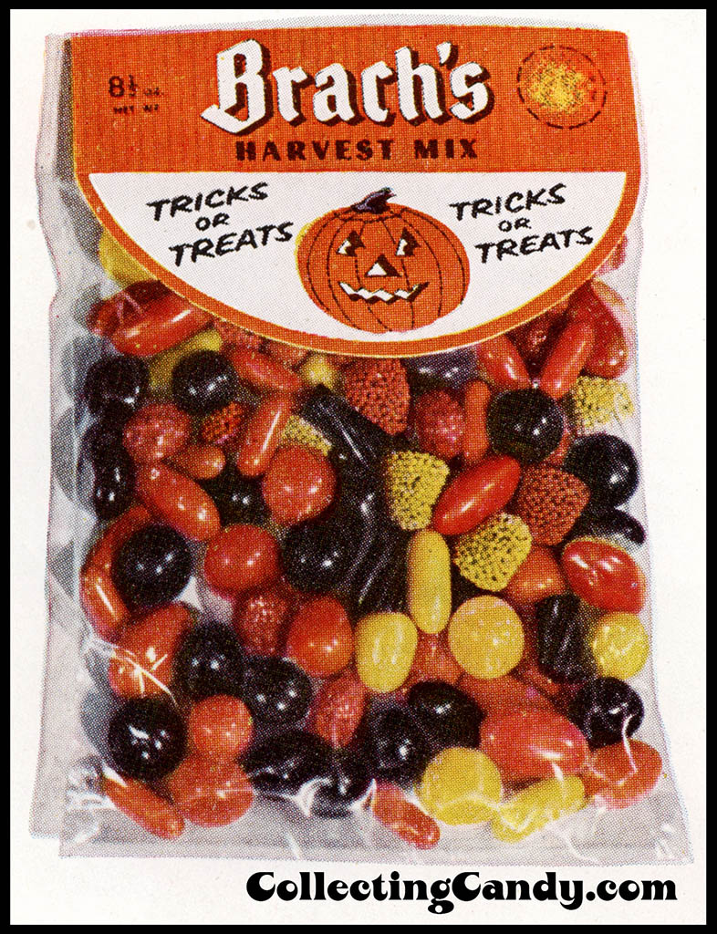 Brach's 1953 Halloween Harvest Mix package catalog close-up