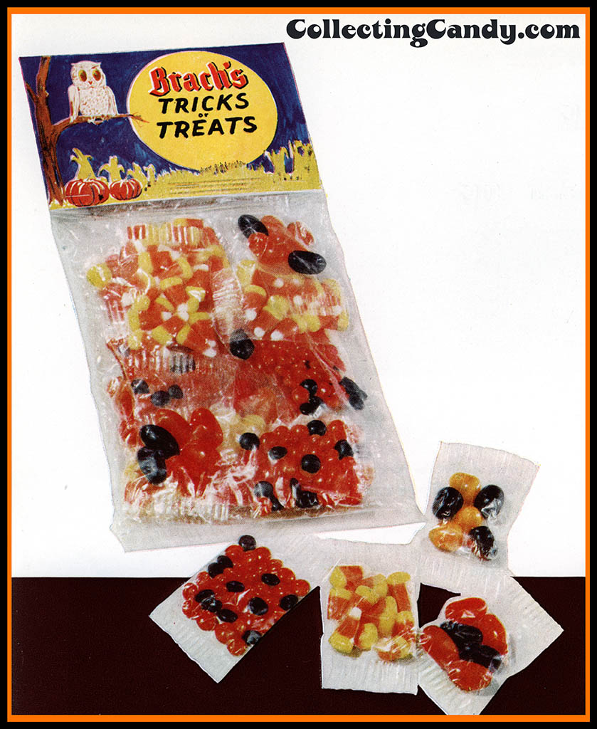 Brach's 1953 Halloween Tricks or Treats bag assorted catalog close-up