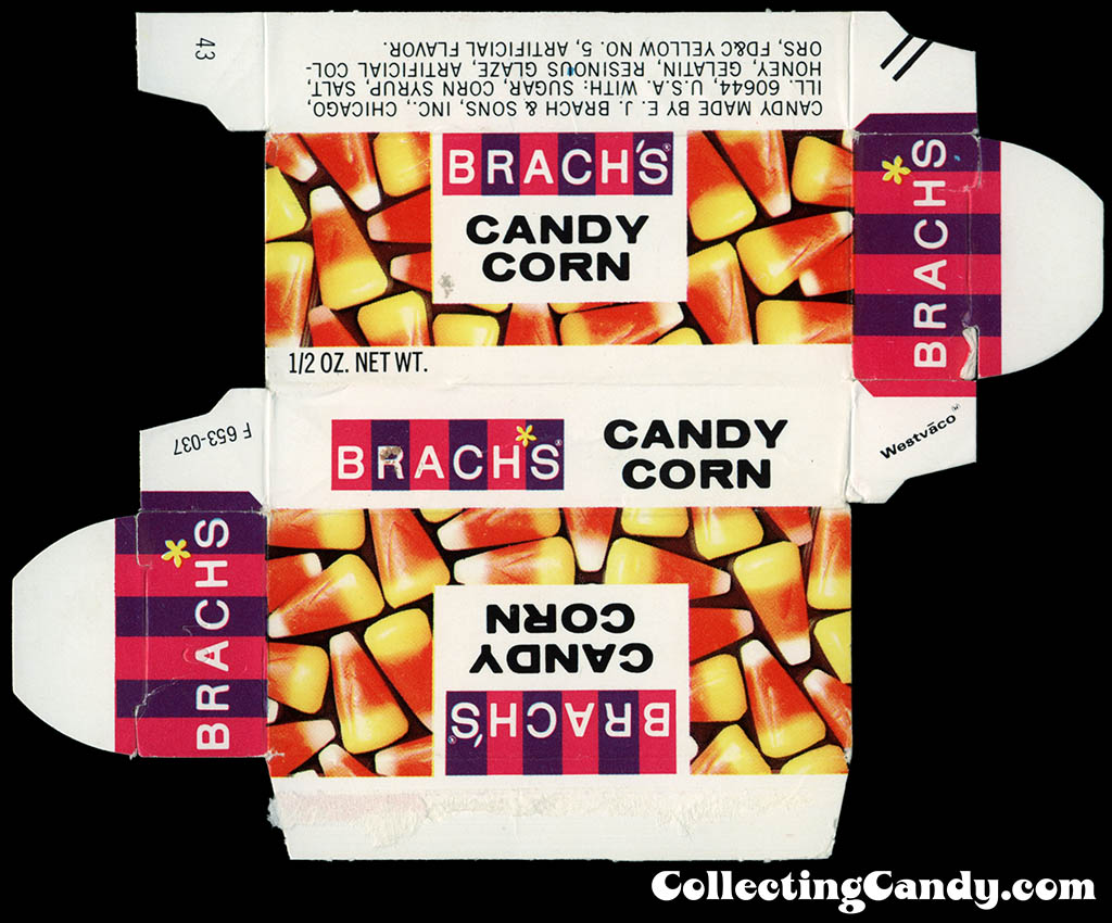 Brach's - Candy Corn 1/2 oz candy box - 1980