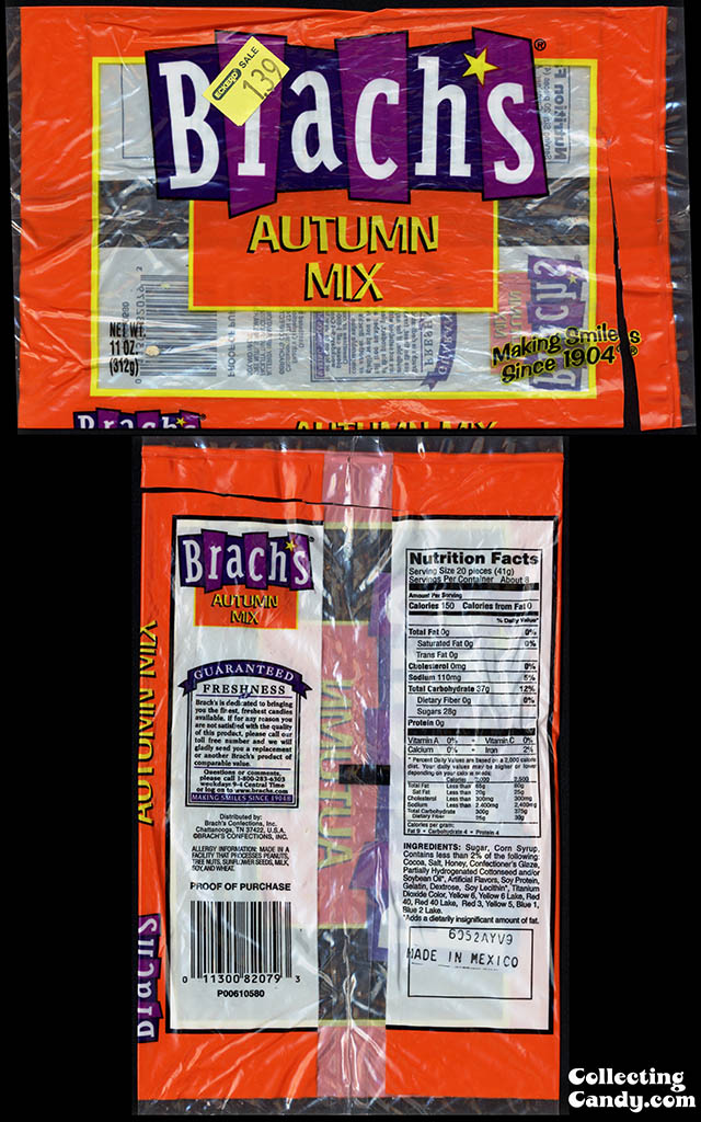 Brach's Confections - Autumn Mix - 11oz Halloween candy package - 2007