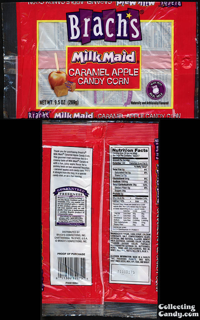 Brach's Confections - Milk Maid Caramel Apple Candy Corn - 9_5oz candy package - 2006-2007