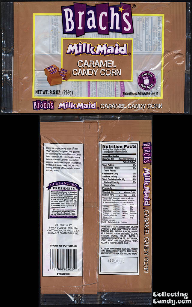 Brach's Confections - Milk Maid Caramel Candy Corn - 9_5oz candy package - 2006-2007