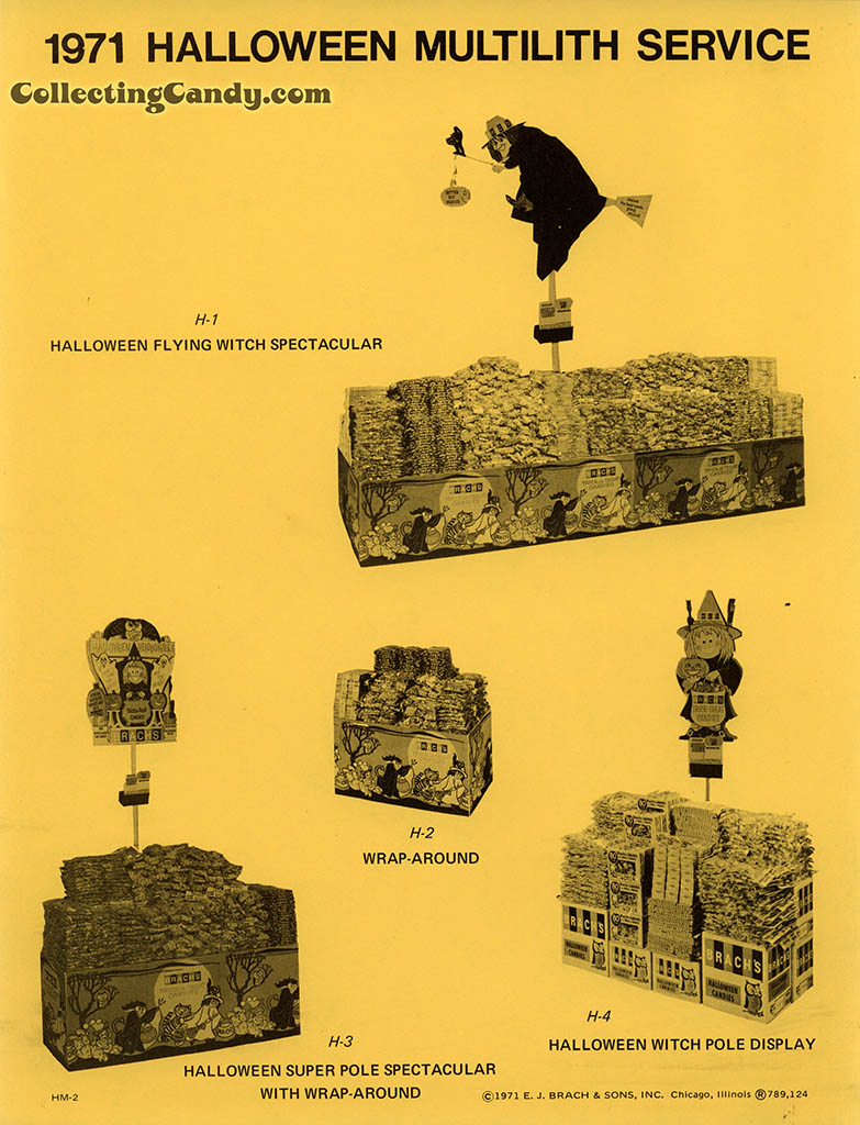 Brach's 1971 Halloween Salesman Packet - In-Store Point-of-Purchase Options Page 01