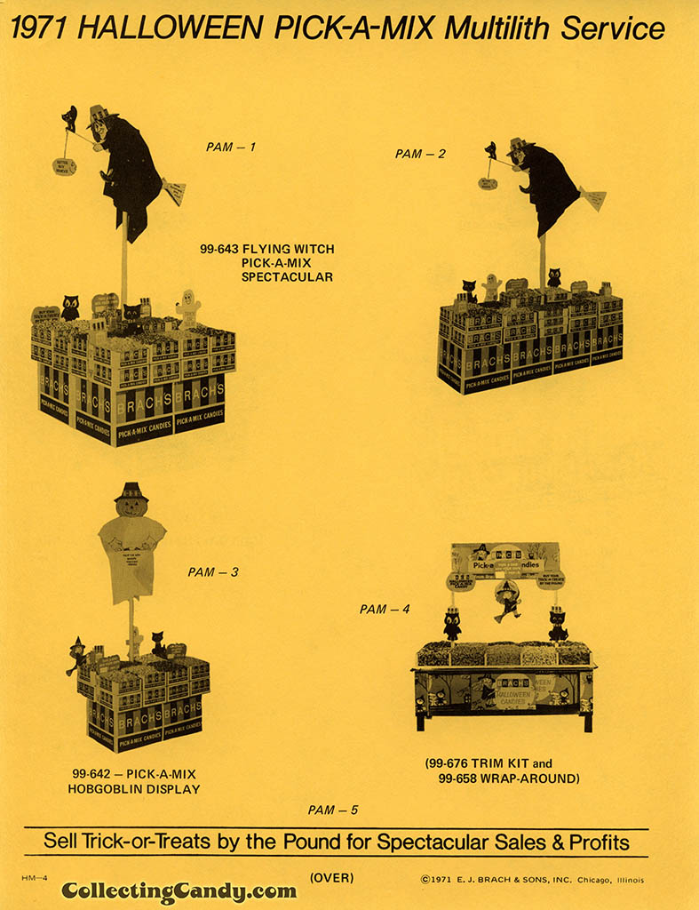 Brach's 1971 Halloween Salesman Packet - In-Store Point-of-Purchase Options Page 02