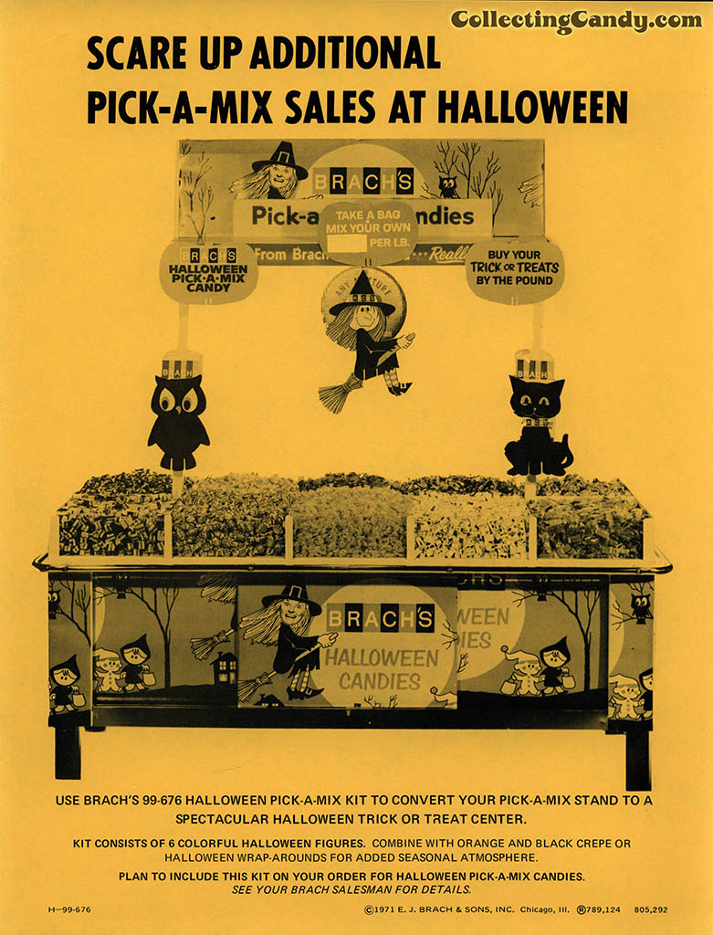 Brach's 1971 Halloween Salesman Packet - In-Store Point-of-Purchase Options Page 04