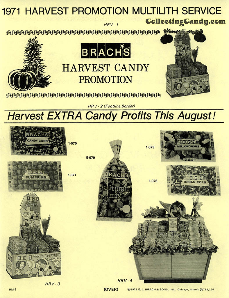 Brach's 1971 Halloween Salesman Packet - Harvest Candy Promotion flyer - Page 01