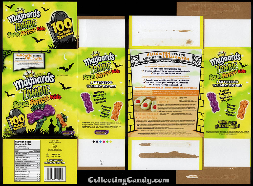 Canada - Maynards - Zombie Sour Patch Kids - Halloween candy box - October 2012
