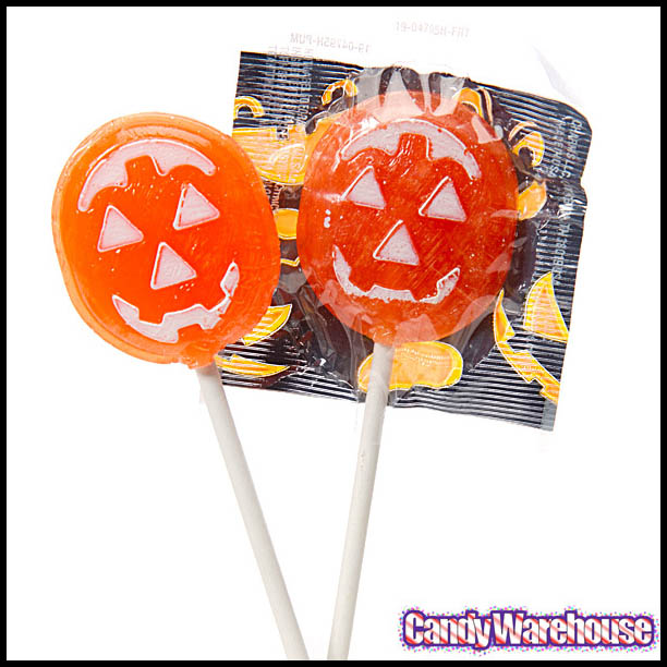 Charms Halloween Pumpkin Pops - Image courtesy CandyWarehouse.com