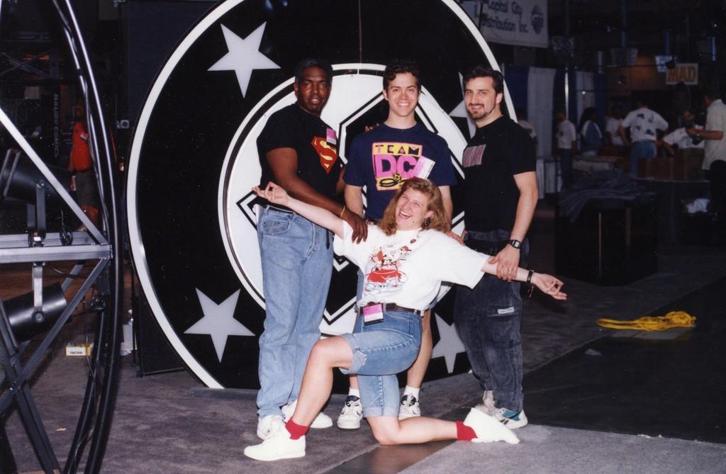 Chicago Comic Con  - DC Comics Marketing Crew - David Vinson, Jason Liebig, Vince Letterio, Maureen McTigue - 1994