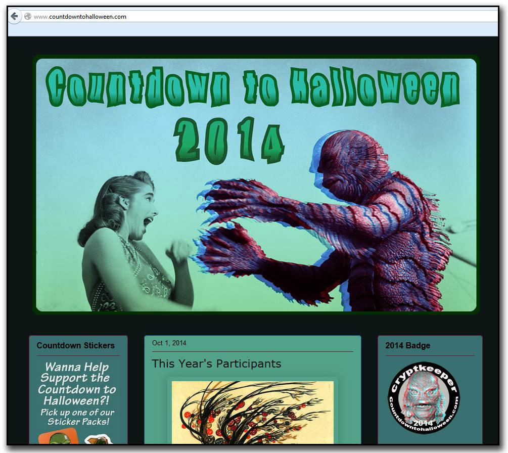 CountDownToHalloween.com 2014 Snapshot