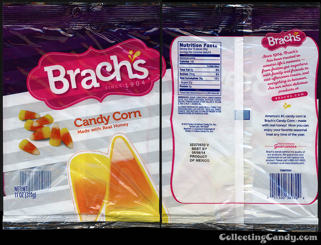 Farley's & Sathers Candy Co - Brach's - Candy Corn - 11oz all-year-round candy packaging - 2010-2013