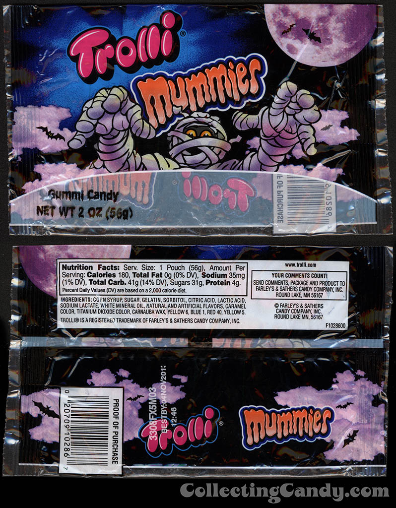 Farley's & Sathers - Trolli - Mummies - 2 oz candy package - 2012