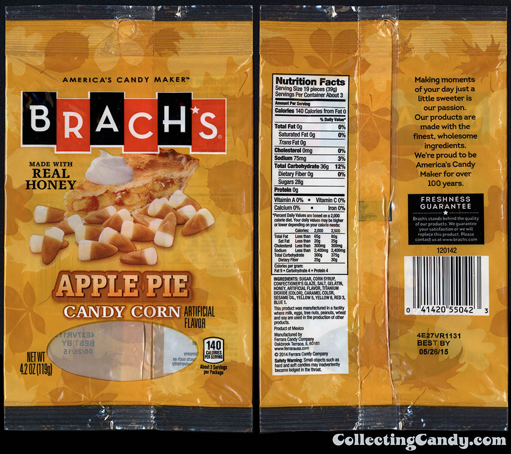 Ferrara Candy Company - Brach's - Apple Pie Candy Corn - 4_2oz candy package - October 2014