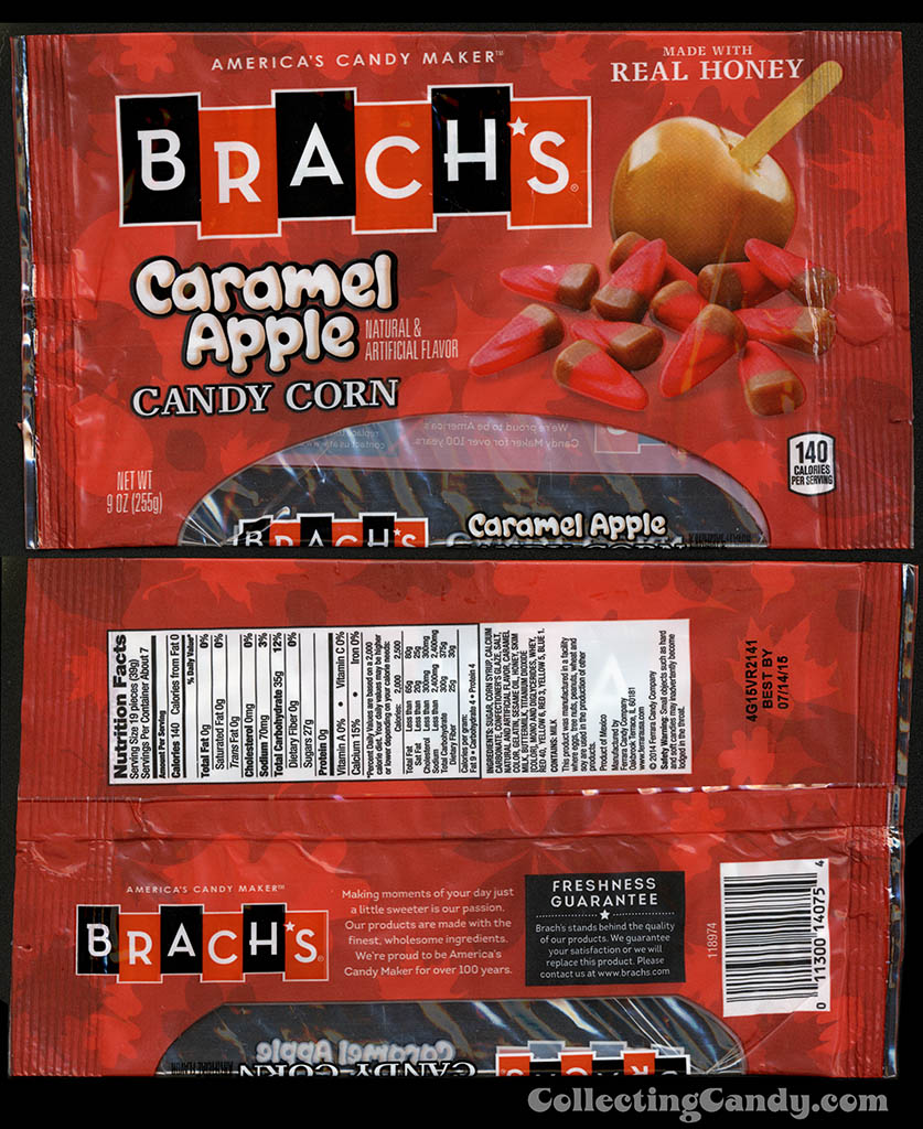 Ferrara Candy Company - Brach's - Caramel Apple Candy Corn - 9oz candy package - October 2014