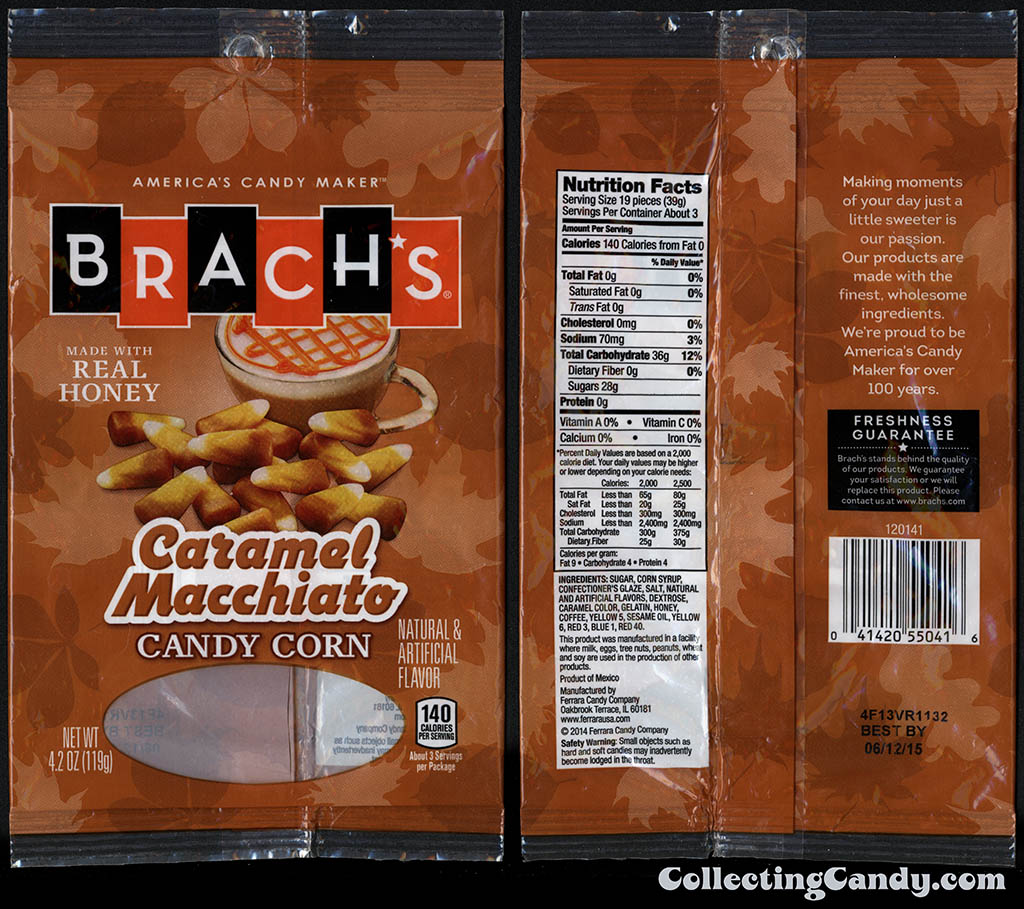 Ferrara Candy Company - Brach's - Caramel Macchiato Candy Corn - 4_2oz candy package - October 2014