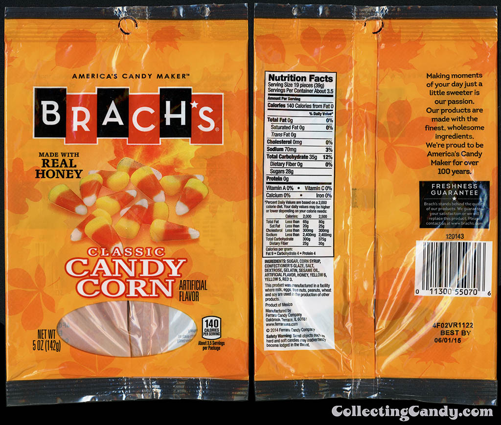 Ferrara Candy Company - Brach's - Classic Candy Corn - 5oz candy package - October 2014