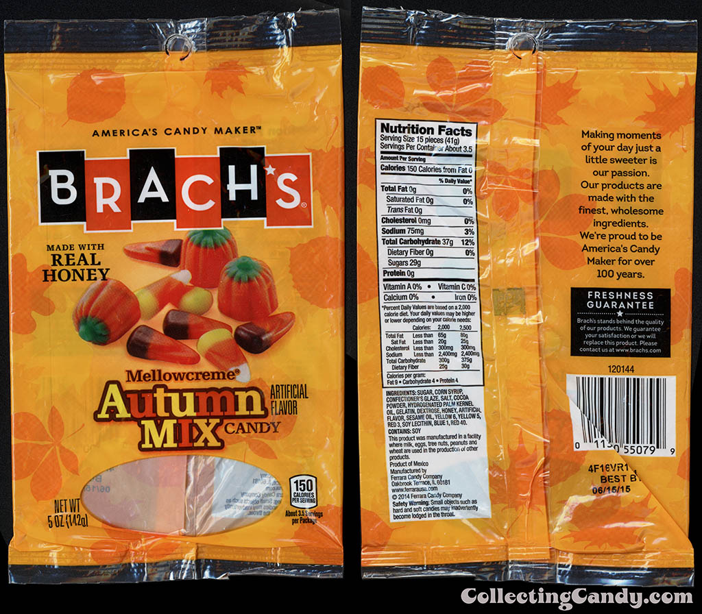 Ferrara Candy Company - Brach's - Mellowcreme Autumn Mix - 5oz candy package - October 2014