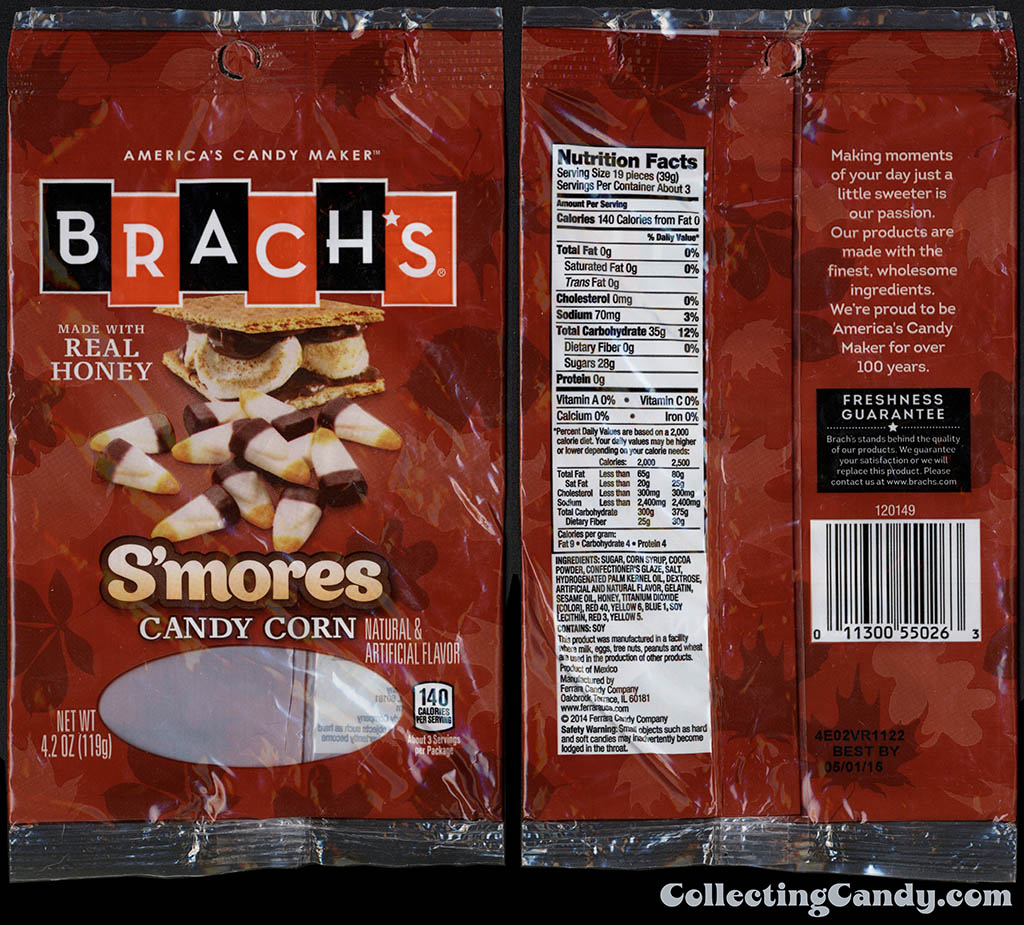 Ferrara Candy Company - Brach's - S'mores Candy Corn - 4_2oz candy package - October 2014