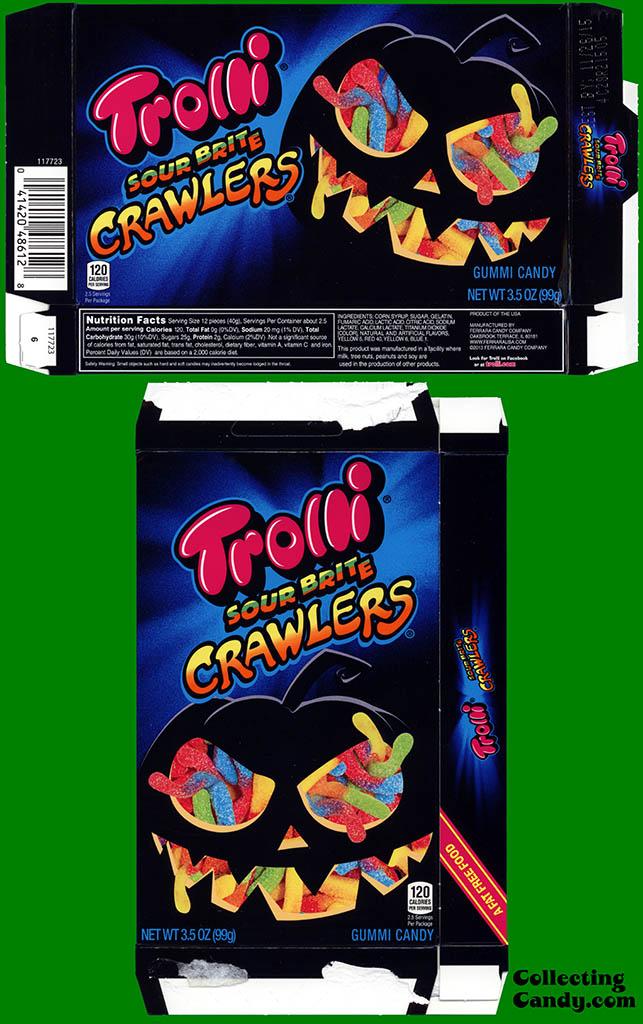 Ferrara Candy Company - Trolli Sour Brite Crawlers - 3_5oz Halloween candy box - October 2014