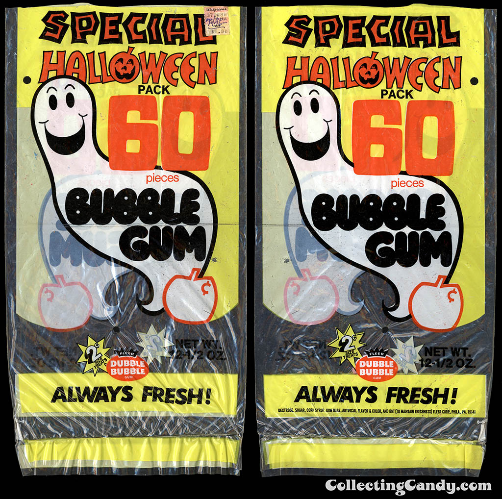 Fleer - Dubble Bubble - Special Halloween pack - 60-pieces bubble gum package - 1976