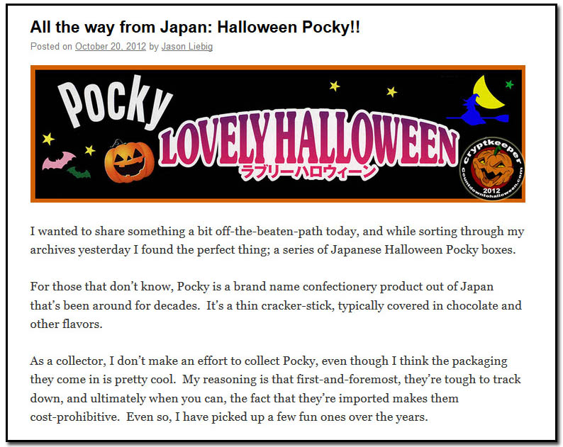 All the way from Japan: Halloween Pocky!! - October 20th, 2012
