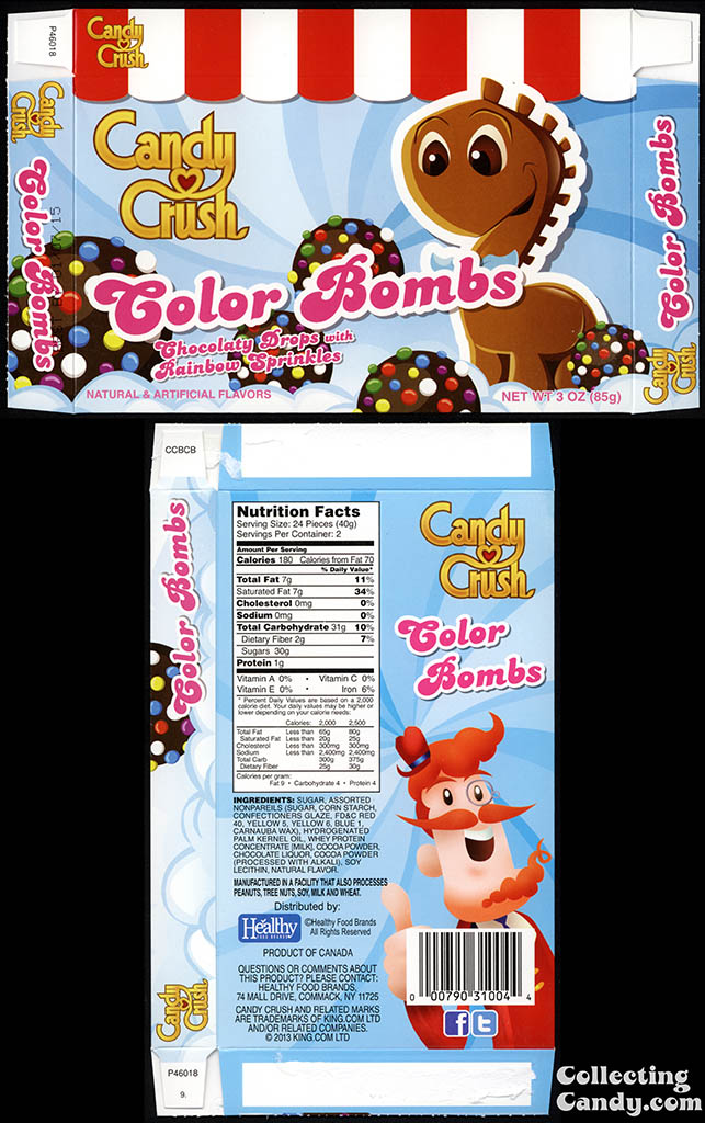 Healthy Food Brands - Candy Crush - Color Bombs - 3 oz candy box - 2014