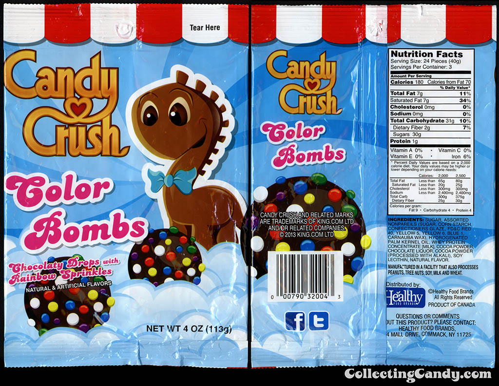 Healthy Food Brands - Candy Crush - Color Bombs - 4 oz candy package - 2014