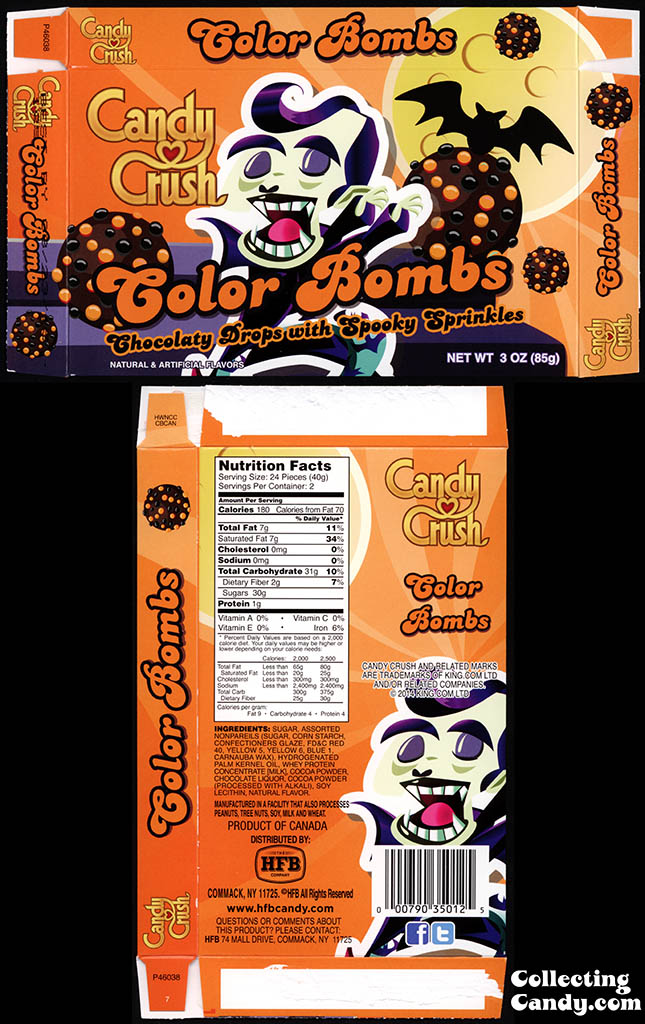 Healthy Food Brands - Candy Crush - Halloween Color Bombs - 3 oz candy box - October 2014