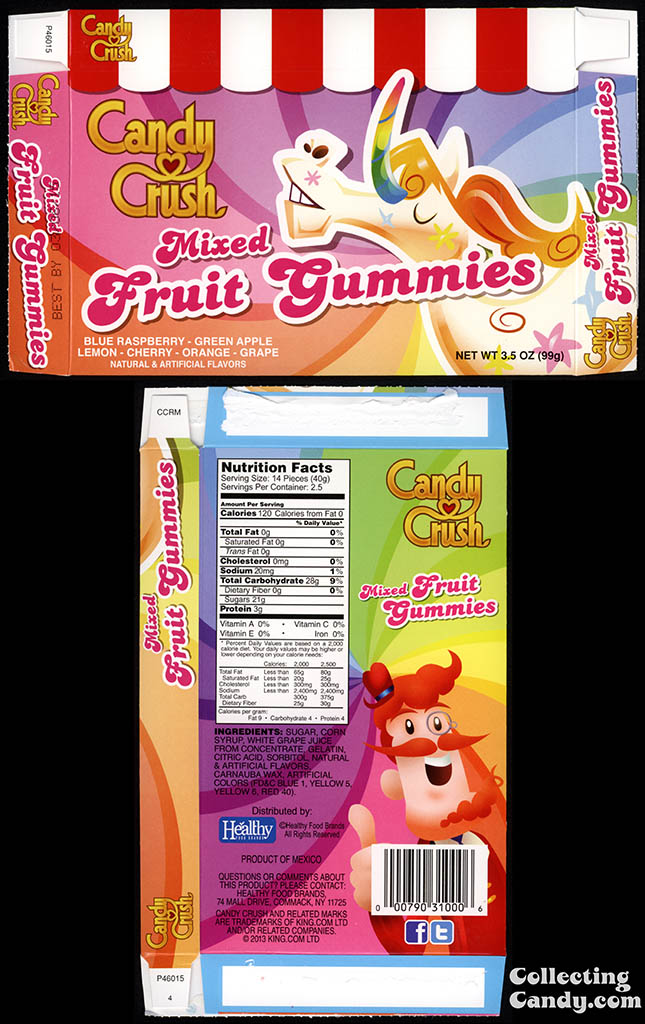 Healthy Food Brands - Candy Crush - Mixed Fruit Gummies - 3.5 oz candy box - 2014