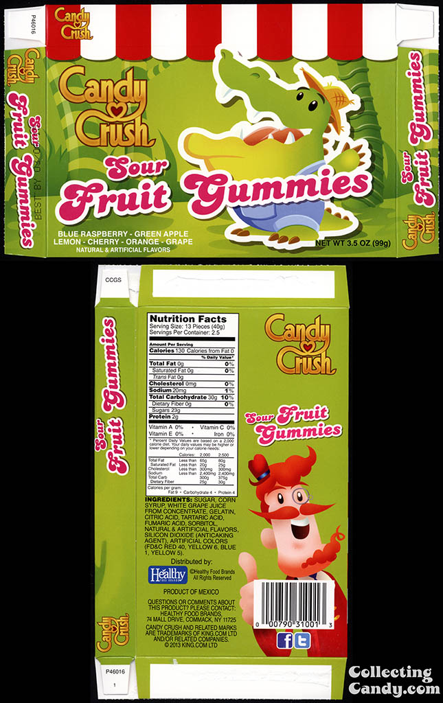 Healthy Food Brands - Candy Crush - Sour Fruit Gummies - 3.5 oz candy box - 2014