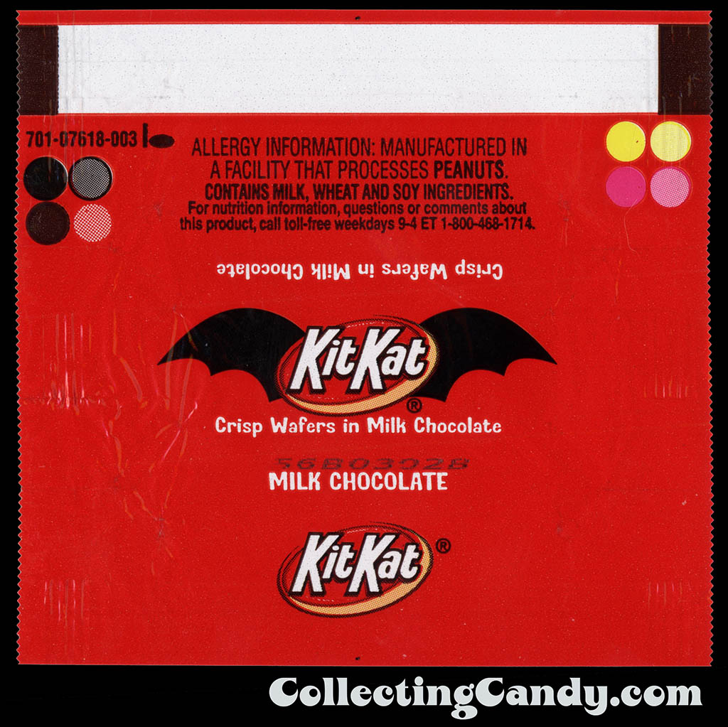 Hershey - Kit Kat - Halloween mini chocolate candy wrapper - October 2011