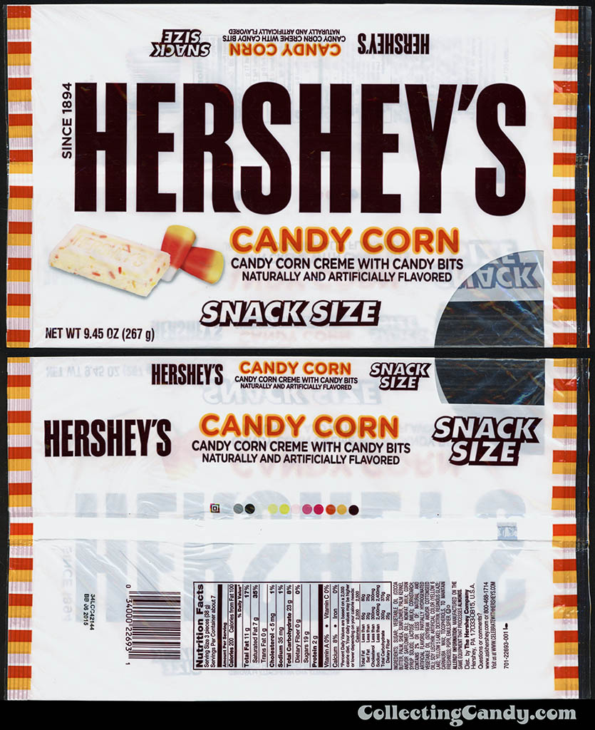 Hershey's - Candy Corn - 9_45oz Snack Size multi-bag package - September 2014