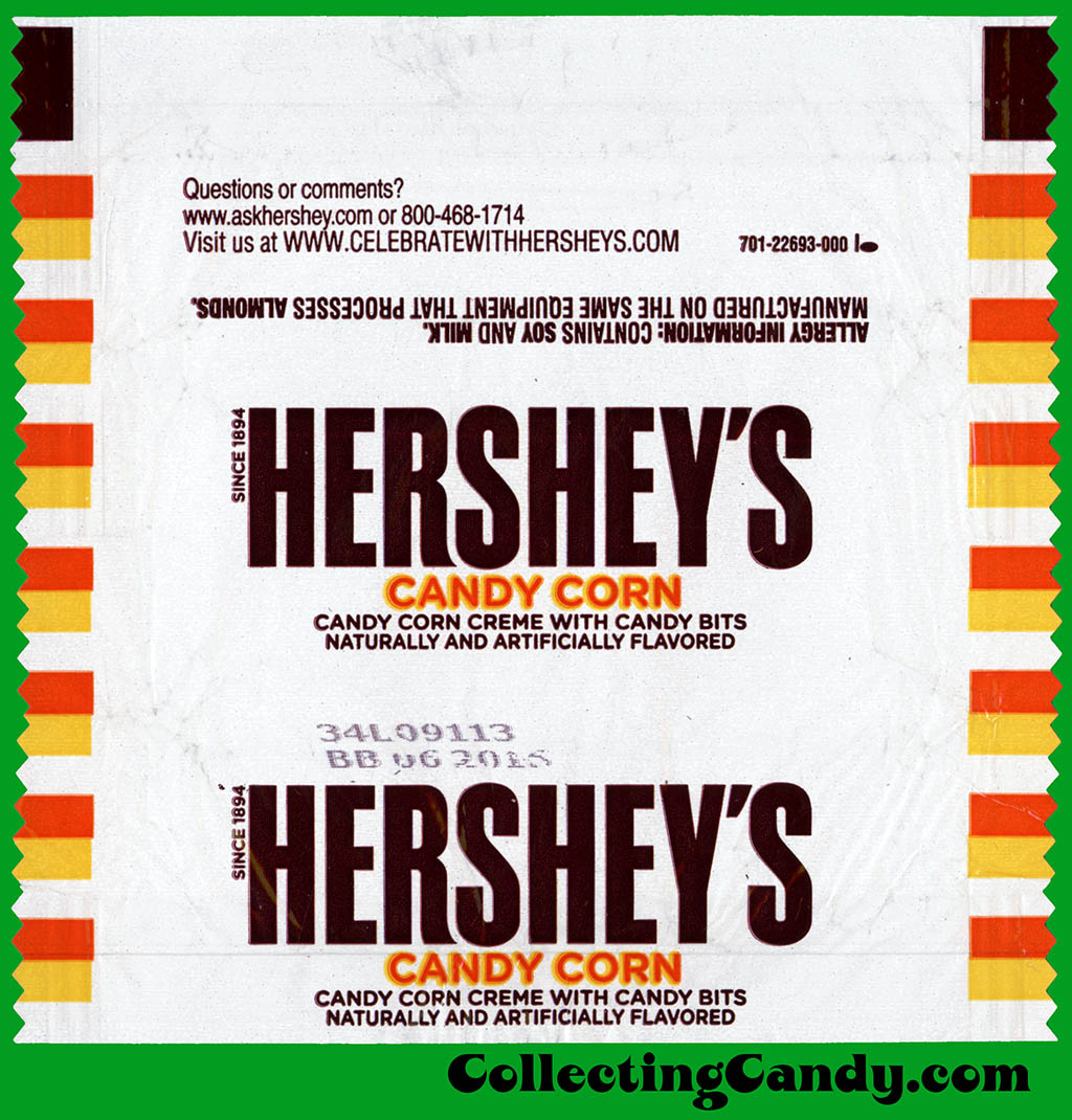 Hershey's Candy Corn bar - Halloween candy wrapper - 2014