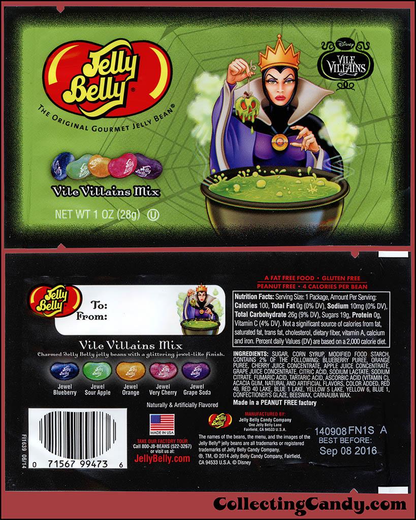 Jelly Belly - Disney Vile Villains - Evil Queen - Vile Villain Mix - Halloween candy package - October 2014