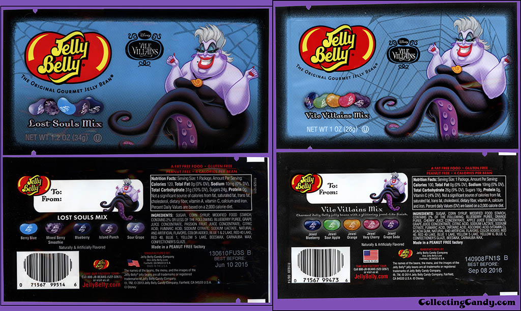 Jelly Belly - Disney Vile Villains - Ursula - 2013-to-2014 comparison