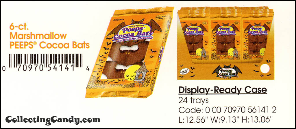 Just Born - Halloween Peeps Cocoa Bats catalog image - 2003